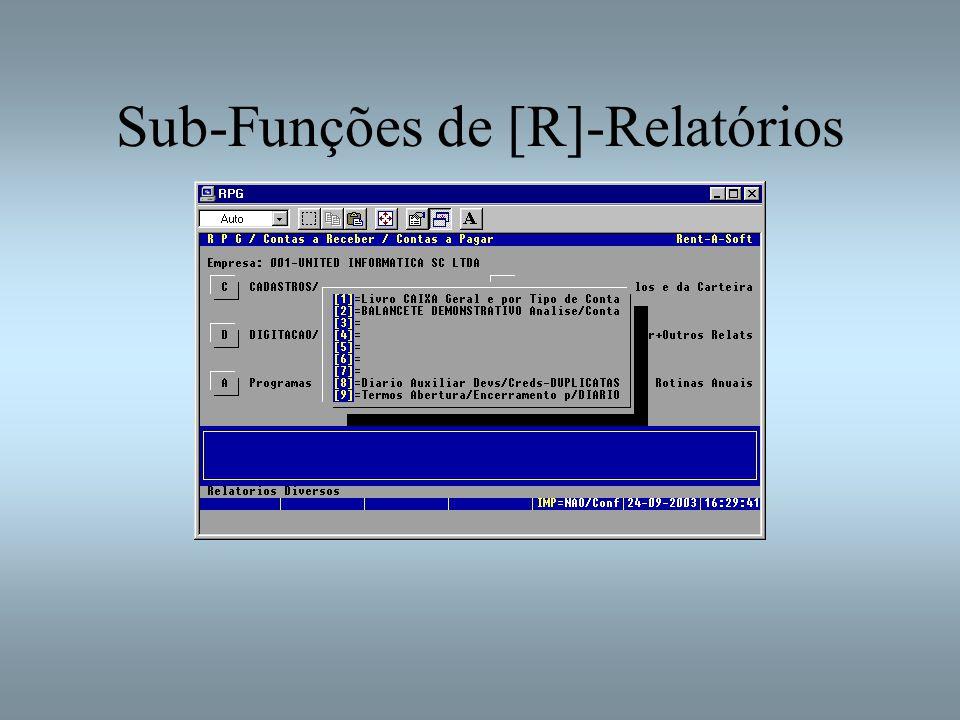 Sub-Funções de [R]-Relatórios